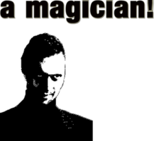 """The IT Crowd Inspired Minimalist Art Print Quote, """"the guy who looks like a magician."""" Typography Wall Hanging  Sticker"""