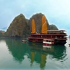 """Halong Ginger"" sails in the Gulf of Tonkin, North Vietnam by Bev Pascoe"