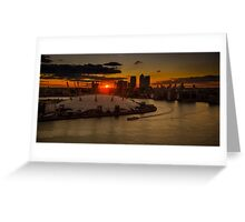 Sunset over London Greeting Card