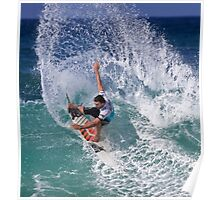 Joel Parkinson 2 At 2010 Billabong Pipe Masters In Memory Of Andy Irons Poster