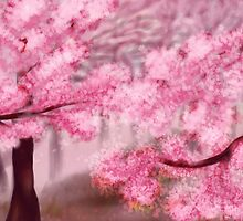 Blooming Sakura Trees by AnnArtshock