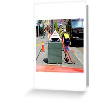 Bend And Squat Greeting Card