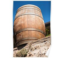 Old barrel for wine Poster