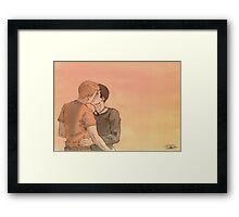 Kissing Bruno Framed Print