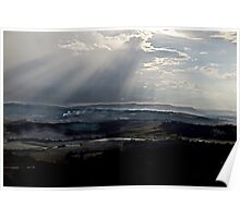 abstract hilly landscape Poster