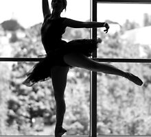 Silhouetted Ballerina by Pixelglo Photography