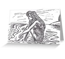 Ariel by the sea Greeting Card