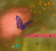 Butterfly fields by CatchyLittleArt