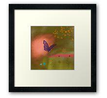 Butterfly fields Framed Print