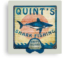Quint's Shark Fishing Canvas Print