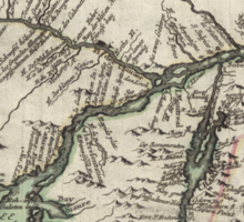 Map of Ontario 1760 Sticker