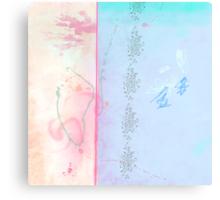 Blue winter dreaming Canvas Print