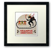 Krampus Greetings Framed Print