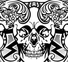 Cool skateboard print with skeleton Sticker