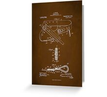 Firefighter Belt Patent 1911 Greeting Card