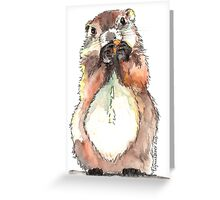 Dinky the Groundhog Greeting Card