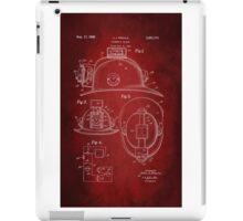 Firefighter Helmet Patent 1965 iPad Case/Skin