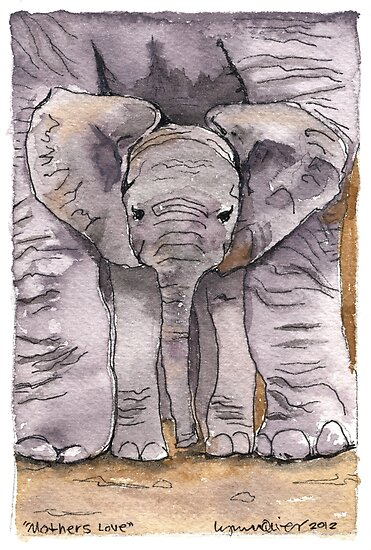 Elephant Mother's Love by Lynn Oliver