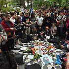 John Lennon Birthday Celebration, Strawberry Fields, Central Park, October 9, 2014  by lenspiro