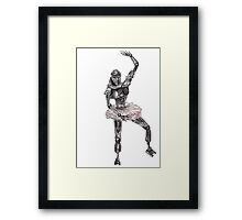 Cute Cylon Ballerina Framed Print