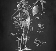 Firefighter Uniform Patent 1905 by Patricia Lintner