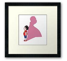 In Rose's Shadow Framed Print