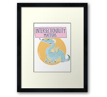 intersectionality matters Framed Print
