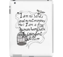 I am no bird // Jane Eyre iPad Case/Skin