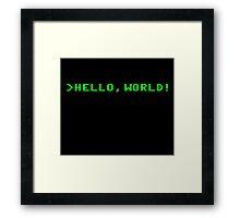 Hello World Computer Programming Framed Print