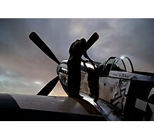 Mustang - Pre flight checks Photographic Print