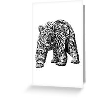 Ornate Bear Greeting Card