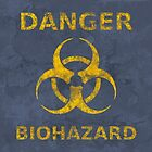Distressed Biohazard Warning by M Rogers