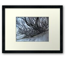 as the river flows.... Framed Print