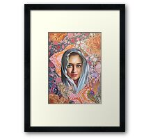 Golden Blue Framed Print