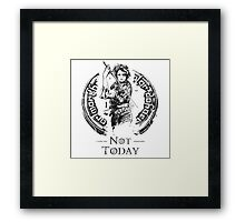 What Do We Say? Framed Print