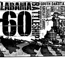 USS Alabama (BB-60) by deathdagger