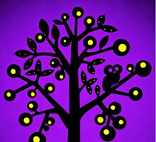 Owl in a tree by Sparklez