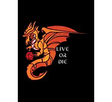 Live Or Die - Gold Dragon Photographic Print