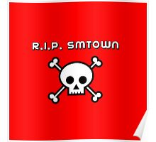 REST IN PEACE SMTOWN - RED Poster