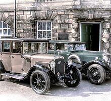 Austin Six and Invicta Cars - hand tinted effect by © Steve H Clark