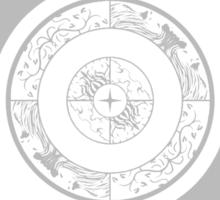Spiritual Compass (silver) Sticker