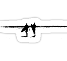 Surfers at The Pass Sticker