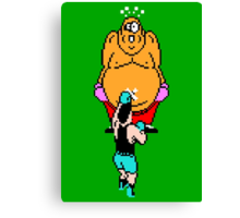 Punch Out King Hippo Canvas Print