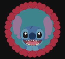 Cute Stitch and little hearts Kids Clothes