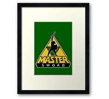 Link and the Master Sword Framed Print