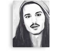 Johnny Depp Drawing Canvas Print