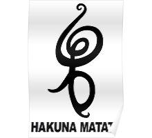 Hakuna Matata - African Symbol Poster