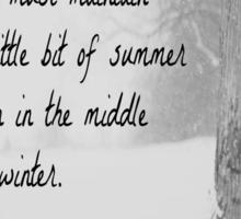 Winter Thoreau Sticker
