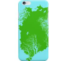 Forest Silhouette in Green iPhone Case/Skin