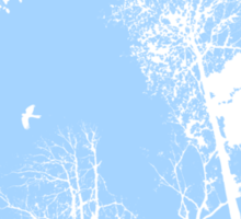 Forest Silhouette in Light Blue Sticker
